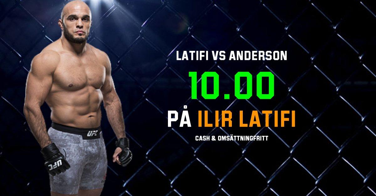 UFC Sverige Ilir Latifi Oddsboost