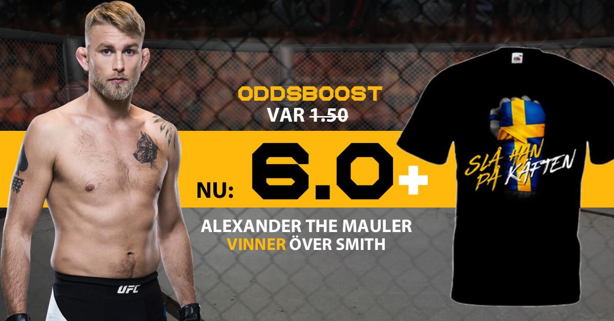 UFC Stockholm The Mauler odds samt exklusiv t-shirt