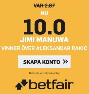 UFC Sverige Jimi Manuwa oddsboost