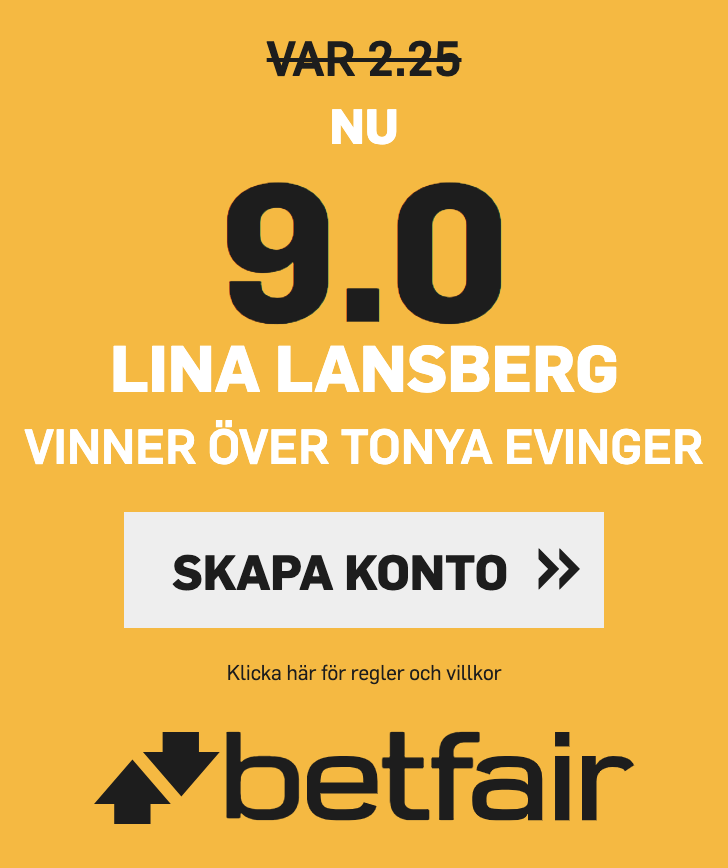 UFC Sverige Lina Länsberg oddsboost