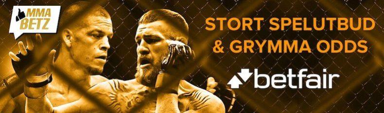 Betfair MMA och UFC odds