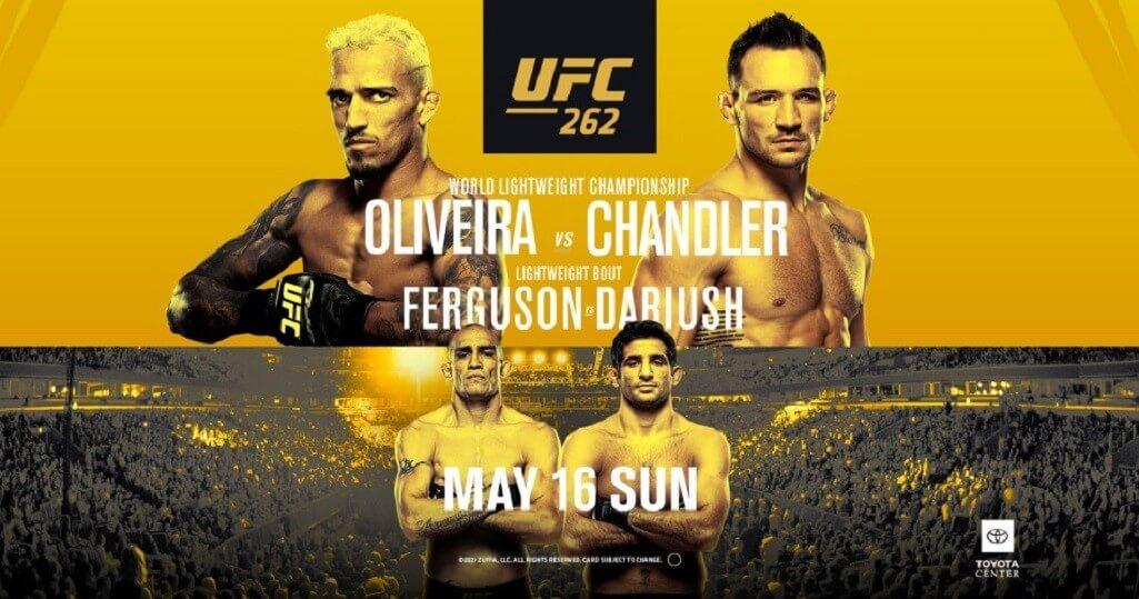 UFC 262 poster